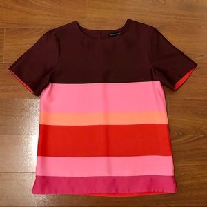NWOT Banana Republic Large Stripe Silky Blouse